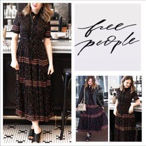 Free People Rare Feeling Ditsy Print Maxi.  NWT.